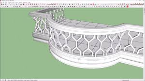 how to create curve balcony in sketchup sketchup pinterest