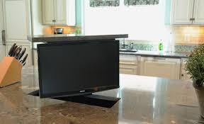 tv cuisine kitchen island tv lift classique cuisine nashville