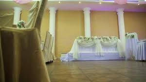 stylish decoration of the hall for a wedding stock video footage