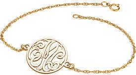 Gold Monogram Bracelet Personalized Bracelets Applesofgold Com