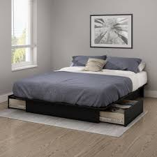 How To Make A Queen Size Platform Bed With Drawers by South Shore Gramercy Full Queen Platform Bed 54