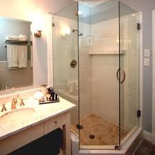 Shower Bathroom Ideas Small Bathroom Corner Shower In Impressive Ideas With Only Craft