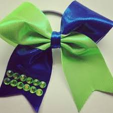 seahawk ribbon two seattle seahawks hairbows pigtails bow bow clip