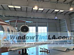 window tinting in nj dusted crystal window film was installed in airplane hangar for
