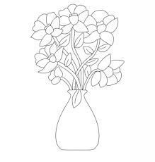 The Flower Vase Flower Vase Drawing With Colour Flower Vase Drawing With Colour