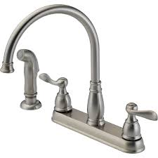 nickel kohler kitchen faucets parts wide spread single handle pull