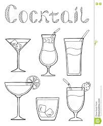 cocktail glass set cocktail glass drink set text graphic art black white isolated
