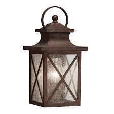 Kichler Outdoor Wall Sconce Shop Kichler Lighting Haven 12 99 In H Olde Brick Outdoor Wall