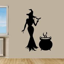 halloween wall decals roselawnlutheran aliexpress com buy halloween sticker witch car decal posters vinyl wall decals pegatina quadro