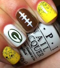 nails by an opi addict green bay packers nails by an opi
