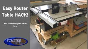laguna router table extension router table hack table saw extension youtube