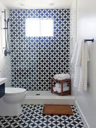 Tile Bathroom Ideas Photos This Small Bathroom Was Remodeled With Black And White Patterned