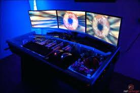 Computer Built Into Desk Precious Computer Built Into Desk For Home Design Trumpdis Co