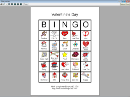 valentines bingo view document s day bingo cards for kids clip