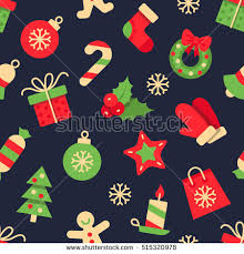 flat christmas wrapping paper christmas vector seamless pattern colorful flat stock vector