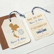 luggage tag save the date wedding gift ideas to send abroad lading for