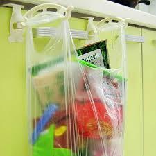 kitchen cabinet plastic bags door garbage bag holder storage rack