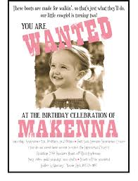Example Of Birthday Invitation Card Cowgirl Party Invitations Kawaiitheo Com