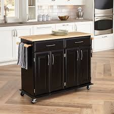 kitchen 3 wood top kitchen cart with breakfast bar natural