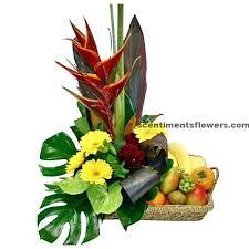 fruit flowers delivery mouthwatering fruit flower arrangement flower
