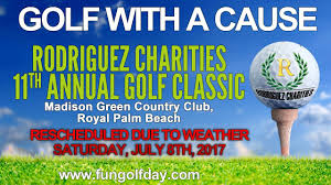 rodriguez charities annual golf classic rescheduled due to weather