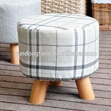 big round wood ottoman stool customized mini stool three feet
