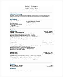 Service Advisor Resume Sample by Academic Resume Template 6 Free Word Pdf Document Downloads