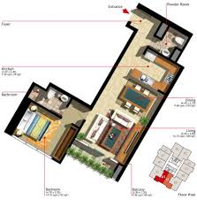 floor plans of marina heights units al reem island 1 bedroom type a