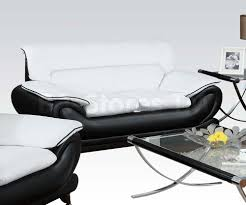 Leather Sofa Loveseat 15 Black And White Leather Sofa Set Carehouse Info
