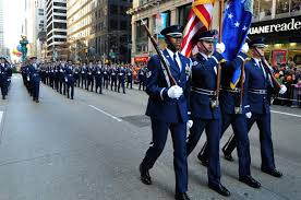 new york on thanksgiving file the u s air force honor guard colors team leads ceremonial