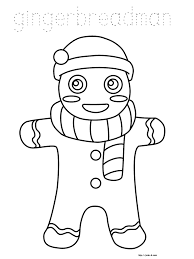 christmas coloring book for kids christmas gingerbreadman