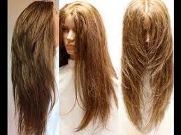 v cut layered hair ultra layering haircut youtube