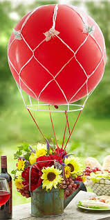 hot air balloon centerpiece 19 and sweet balloon centerpieces for baby showers shelterness