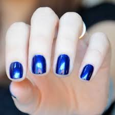 kure bazaar natural nail polish blue rock star