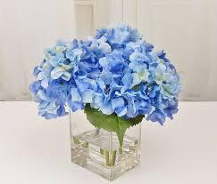 hydrangea realistic blooms floral arrangements silk real