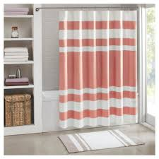 Brown Ruffle Shower Curtain by Curtains Coral And Teal Shower Curtain Solid Navy Blue Shower