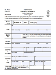 Bill Of Sale Vehicle Pdf by Business Bill Of Sale Forms 7 Free Documents In Word Pdf