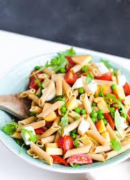 pasta salad spring pasta salad with basil vinaigrette