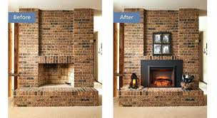 cost to install a fireplace insert before and after insert web how much to install gas