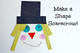 make a shape scarecrow for math learning fun with kids