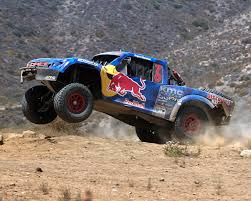rally truck menzies motosports conquer baja 500 in the red bull trophy truck
