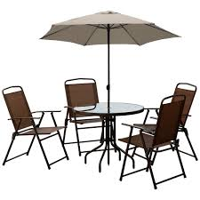 4 Seater Patio Furniture Set - courtyard bradley 6 piece patio furniture set aluminium u0026 steel