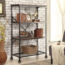 Wood Bookshelves Designs by Metal And Wood Bookshelves Design With Freestanding Wooden Shelves
