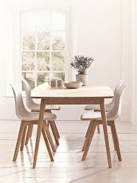 natural wood kitchen table and chairs scandinavian style dining room furniture homegirl london
