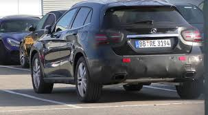 mercedes gla class 2017 mercedes gla class facelift spied with minimal camo
