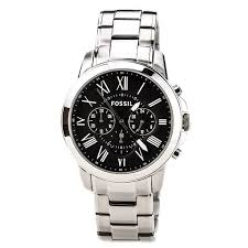 fossil steel leather bracelet images Fossil men 39 s fs4736 grant chronograph stainless steel watch free jpg