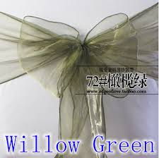 cheap sashes for chairs willow green wedding chair sashes shimmer organza sashes