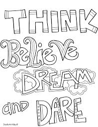coloring page quotes quote coloring pages doodle art alley