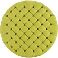 round tufted fabric ottoman modern furniture u2022 brickell collection