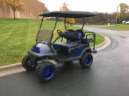 blue ghost flame club car precedent i2 48v electric golf cart